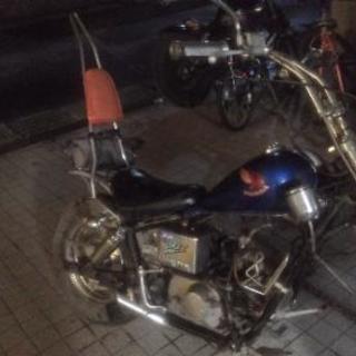50cc フロントチョッパーホンダjazz