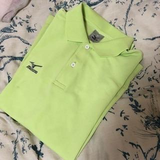ミズノ 黄緑 ポロシャツ