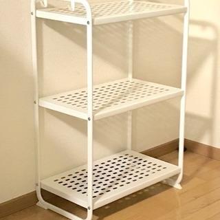 【IKEA】MULIG メタルラック 白/ホワイト