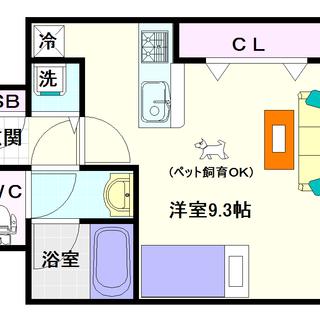 【I Cube 恵美須】5号タイプ!1Rタイプ!ペット飼育可能物件...