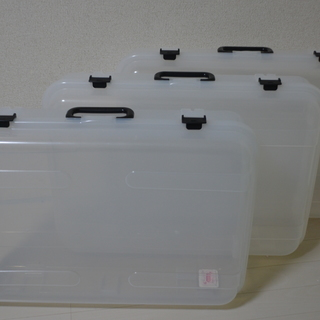 【値下げ】クリアケース クリアボックス 3個セット 約55cm×約...