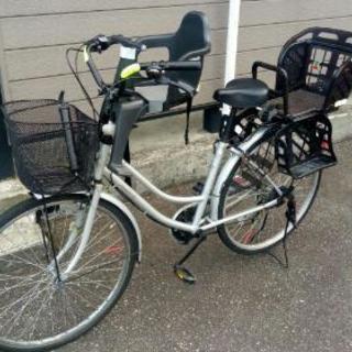 【取引中】自転車 サイズ26 チャイルドシート(OGK)、空気入れ付