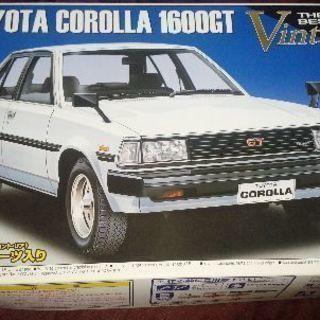 値下げ ビンテージプラモデルTOYOTA COROLLA 1600GT