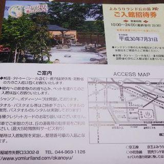よみうりランド 丘の湯 入館招待券
