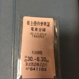 東武鉄道 株主優待切符