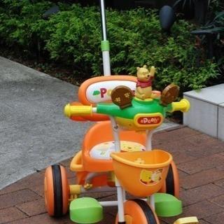 アイデス社製 くまのプーさん 舵取りトーク三輪車 美品
