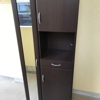 【リサイクルサービス八光 配達設置OK】ブラウン木目調 靴箱 - 家具