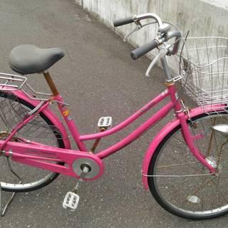美品 自転車 前と後輪タイヤは今年交換 LEDライト付き ママチャ...