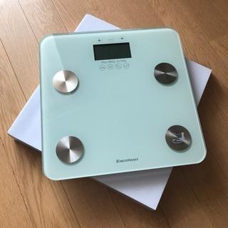 オシャレな体組成計‼️ 体重計 体脂肪 体水分 筋肉量 骨格筋 BMI
