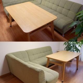 ニトリ ダイニングソファ&テーブルのセット