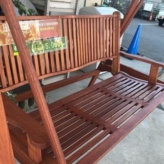 ガーデン ブランコ 木製品 FSC 新品