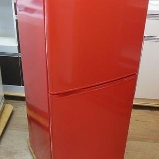 【原色カラー家電RED入荷です】 AQUA 2ドア 冷凍冷蔵庫 A...