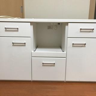 【綺麗】キッチンカウンター/食器棚
