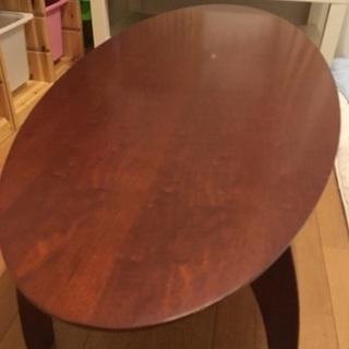 センターテーブル 茶色