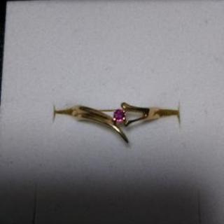 値下げしました、刻印有、k9、ルビーの指輪