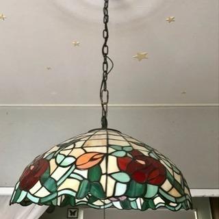 薔薇ステンドグラス 照明 ペンダントライト