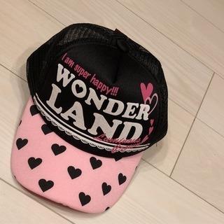 ガールズキャップ 帽子 ひよけ ピンク