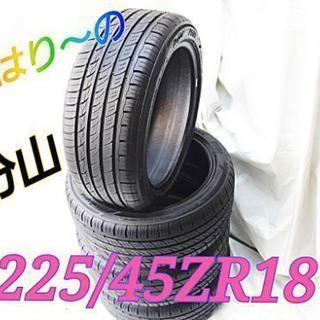 (SOLD)225/45ZR18 バリ山タイヤ!交換+ホイールバ...