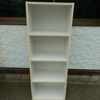 コーナン シンプルなカラーボックス 4段 収納棚 ホワイト JM3...