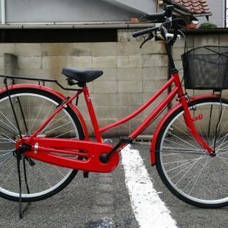 自転車 ママチャリ ジャンク扱い 赤色