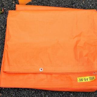 未使用 PEブルーシート 3.6×4.5m【オレンジ】