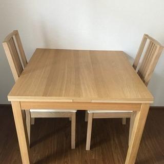 IKEA 伸長式 ダイニングテーブ...
