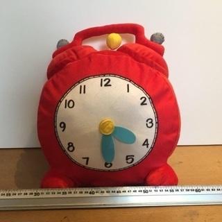 時計のぬいぐるみ