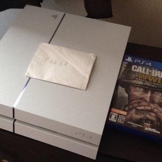 PS4 白 箱なし 500GB CODww2セット