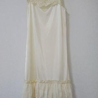 裾見せペチコート(ペティコート)ホワイト