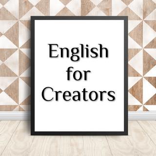 English for Creators