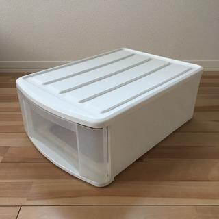 アイリスオーヤマ クローゼット収納 収納ケース 白・ホワイト・透明