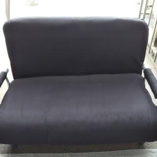 [ソファーベッド黒]⁑リサイクルショップヘルプ