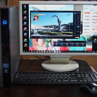 希少!地デジ付きWin10爆速SSD+500GBHDDスリムデス...