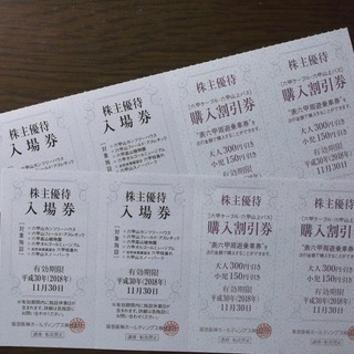 六甲山のカンツリーハウス入場券4枚、ソフトクリーム4個引き換え券...