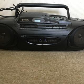 SANYO CDラジオダブルカセット