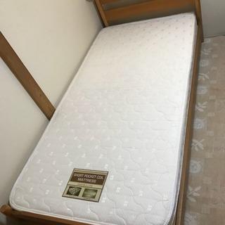 木製 シングルベッド すのこ マットレス付