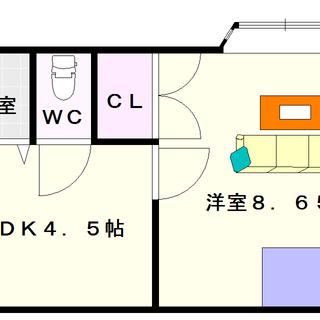 【メゾンいこい】6号タイプ!1DKタイプ!近くにイオンモールとビバ...