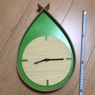 北欧風壁掛け時計グリーン