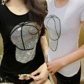在庫処分!!♥キラキラ・キャップTシャツ♥2カラー残り3つ!