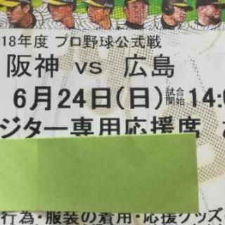 広島カープ 6/24(日)甲子園レフトビジター専用応援席