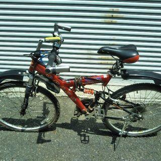 【自転車】タイヤパンク マウンテンバイク