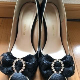 【美品】結婚式 靴 ヒール 23㎝