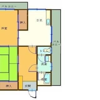 松山市福音寺 清水マンション406号 2DK【3.7万円】インター...