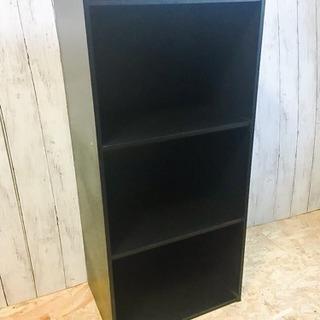 黒 ブラック 3段カラーボックス LC062296