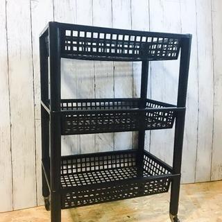 黒 ブラック プラスチックラック LC062295