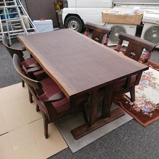 ニトリ ダイニングテーブル DTヤマト2 回転椅子セット