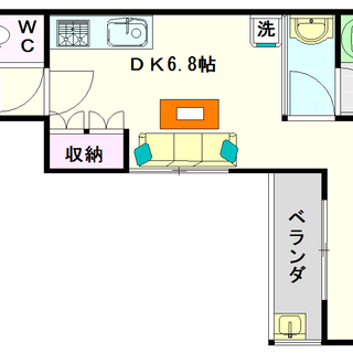 【ゼウス桜川プレミアム】2号タイプ!1DKタイプ!デザイナーズの...