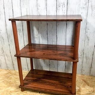 茶色 ブラウン 木製ラック LC062097