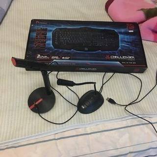 [中古]ゲーミングキーボード、3.5mmプラグマイク、usbマイク