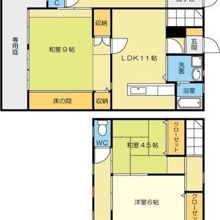 [オーナーチェンジ] 小倉北区 黒住町 2世帯可能 2階建て 駐車場付き - 不動産売買(マンション/一戸建て)